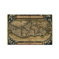 1570 World Map Rectangle Magnet