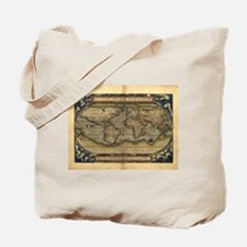 1570 World Map Tote Bag