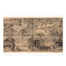 1581 World Map Postcards (Package of 8)