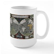 1595 World Map Mug