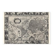 1606 World Map Postcards (Package of 8)
