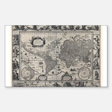 1606 World Map Rectangle Decal