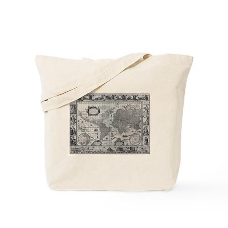 1606 World Map Tote Bag