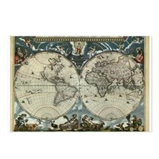 1664 World Map Postcards (Package of 8)
