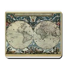 1664 World Map Mousepad