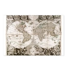 1708 World Map Postcards (Package of 8)