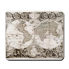 1708 World Map Mousepad