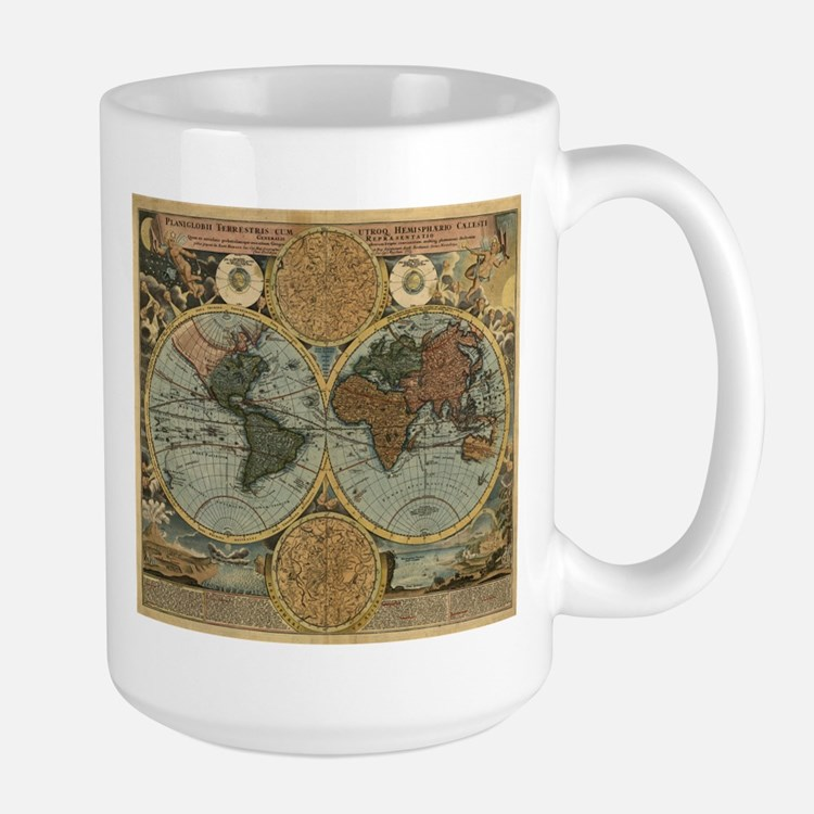 1716 World Map Large Mug