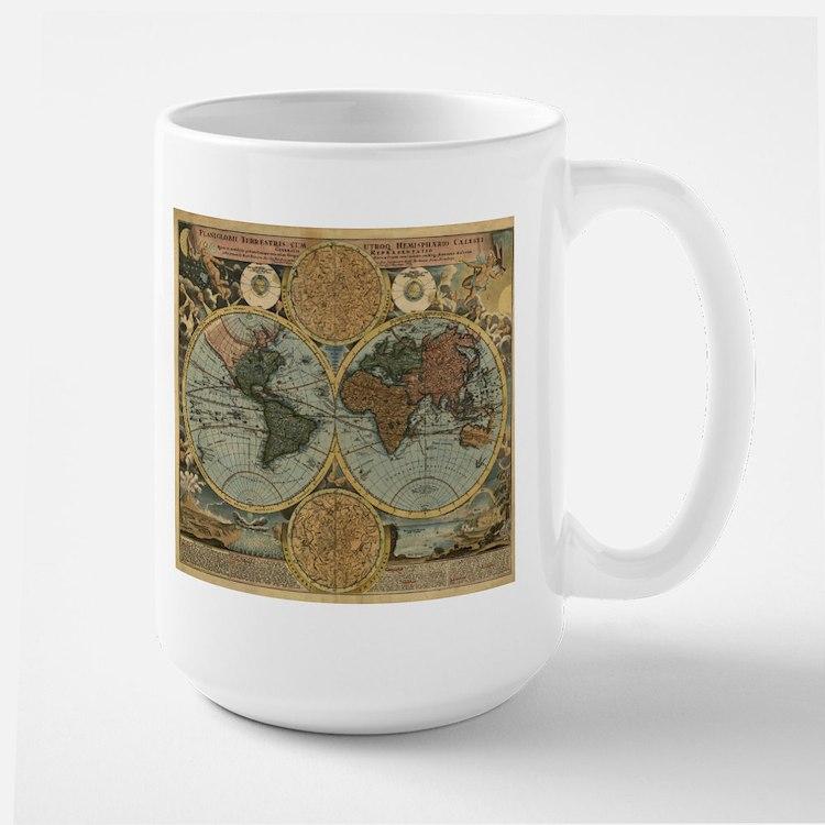 1716 World Map Mug