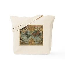 1716 World Map Tote Bag
