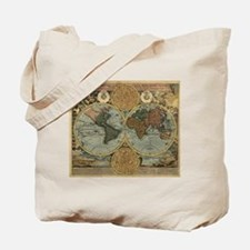 1716 World Map Tote Bag