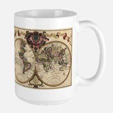 1720 World Map Large Mug