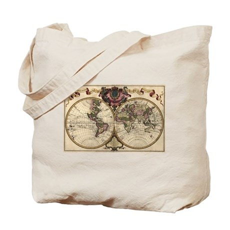 1720 World Map Tote Bag