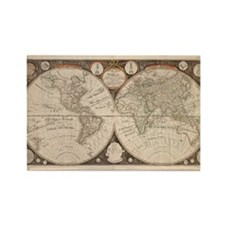 1799 World Map Rectangle Magnet
