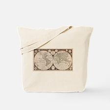 1799 World Map Tote Bag
