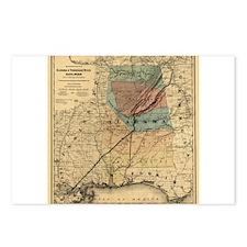 1867 AL TN Rail Map Postcards (Package of 8)