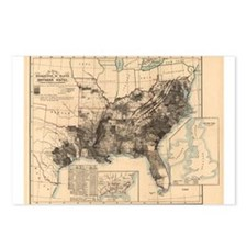 1860 America Slave Map Postcards (Package of 8)