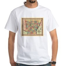 1854 Arkansas Map Shirt