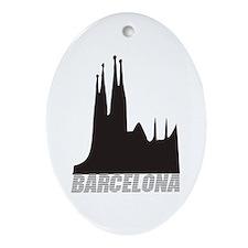 Barcelona Oval Ornament