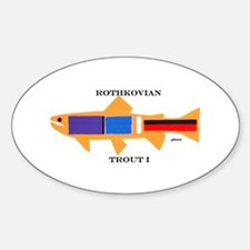 Rothkovian Trout Oval Decal