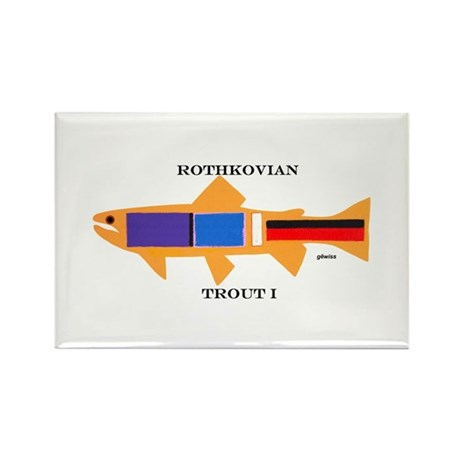 Rothkovian Trout Rectangle Magnet (100 pack)
