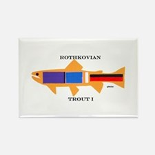 Rothkovian Trout Rectangle Magnet