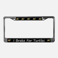 Black I Brake For Turtles License Plate Frames