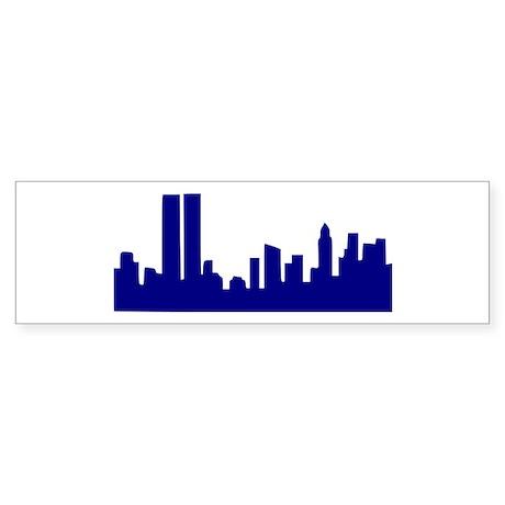 Skyline New York Bumper Sticker