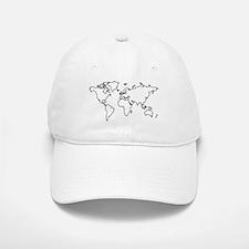 World map Baseball Baseball Cap
