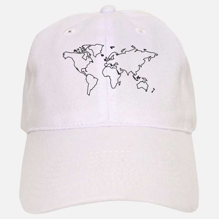 World map Baseball Baseball Cap