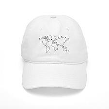 World map Baseball Cap