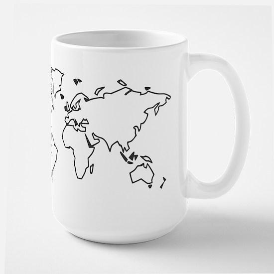 World map Large Mug