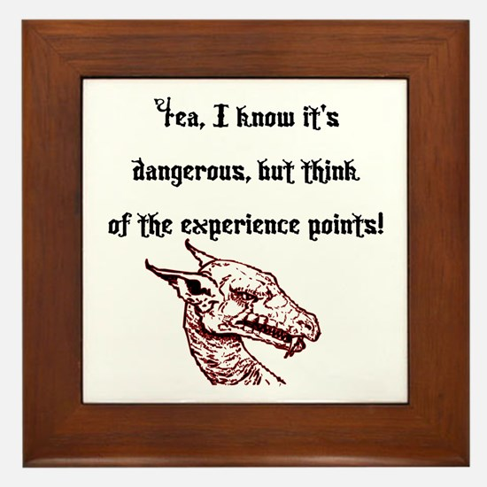 RPG Think of the experience points Framed Tile