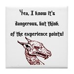 RPG Think of the experience points Tile Coaster
