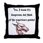 RPG Think of the experience points Throw Pillow