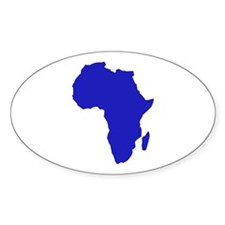 Africa Oval Decal