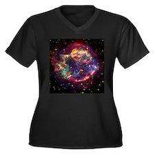 Cassiopeia A Supernova Remnan Women's Plus Size V-