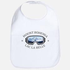 Mount Bohemia - Lac La Belle - Michigan Baby Bib
