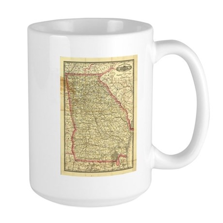 1883 Georgia Map Large Mug
