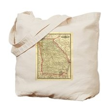 1883 Georgia Map Tote Bag