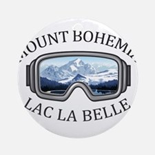 Mount Bohemia - Lac La Belle - Mi Round Ornament