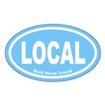 LOCAL Euro Oval Sticker in Carolina Blue