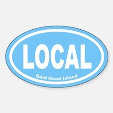 LOCAL Euro Oval Sticker in Carolina Blue