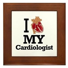 I Heart My Cardiologist Framed Tile