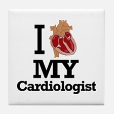 I Heart My Cardiologist Tile Coaster