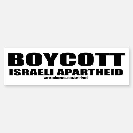 Boycott Apartheid Bumper Bumper Bumper Sticker