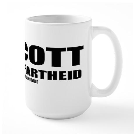 Boycott Apartheid Large Mug