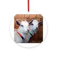 Goats Ornament (Round)
