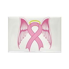 Breast Cancer Angel Rectangle Magnet