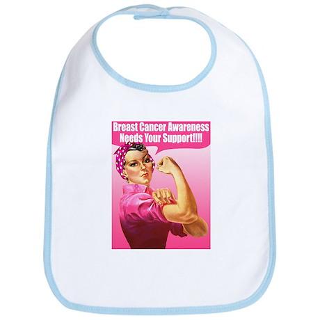 Rosie the Riveter Breast Cancer Bib